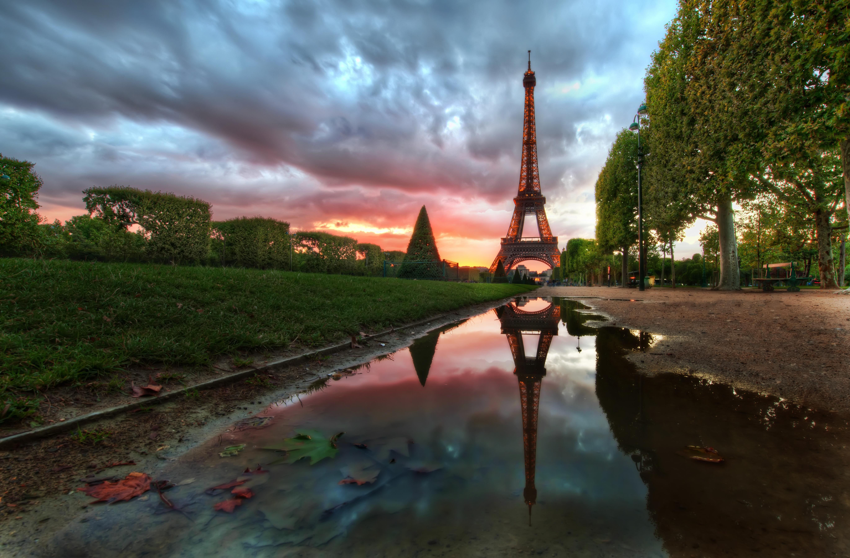 природа страны архитектура Марсово поле Париж Франция  № 824084  скачать